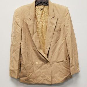 Gucci Men Tan Button Blazer Size 44